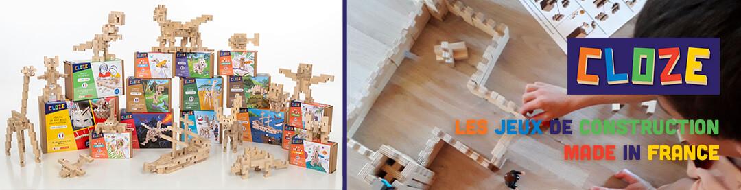 Nos jeux de construction en bois Made in France Cloze