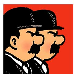 Dupont & Dupond personnages Tintin